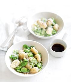 GNOCCHI WITH BROAD BEANS AND BURNT BUTTER SAUCE