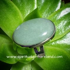 Green Aventurine Silver Gemstone Ring
