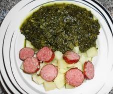 Rezept Grünkohl-Eintopf mit Mettwürstchen und Kartoffeln von Thermifee - Rezept der Kategorie Hauptgerichte mit Fleisch