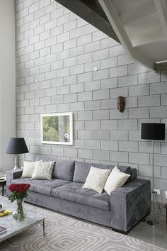 interior decorating help and advice Concrete Block Walls, House Design, Interior, Interior Wall Design, Concrete House, Loft Design, House Interior, Concrete Interiors, Home Interior Design