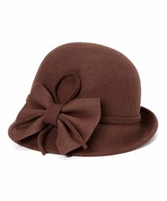 Look what I found on #zulily! Chocolate Bow Wool Cloche #zulilyfinds