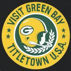 """Visit Green Bay Titletown U.S.A."" Sticker, via Flickr."