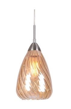 Woodbridge Lighting 13226STN-C207 1 Light Soak Satin Nickel Mini Pendant with Pu Satin Nickel with