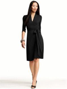 178798d04b63d The classic little black dress...never out of style Faux Wrap Dress