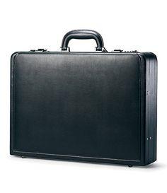 Samsonite Leather Attache $99.00.  Available at Dillards.com #Dillards