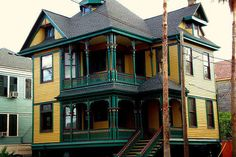 Galveston, Texas - The South's Most Colorful Houses  - Southernliving. Go big, or go home, right?