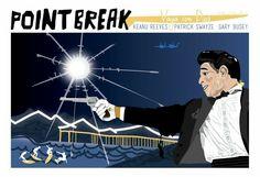 """Vaya Con Dios"", 2013 ~ Point Break ~ Minimal Movie Poster by Chelsea Patterson (Cutestreak Design) Point Break 1991, Natural Born Killers, Bank Robber, Minimal Movie Posters, Film Posters, Tom Daley, Movie Prints, We Movie, The Best Films"