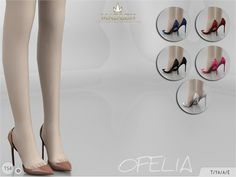 Mid heel pumps for more casual occasions. Found in TSR Category 'Sims 4 Shoes Female' Source: Madlen Ofelia Shoes The Sims 4 Pc, Sims 4 Mm, Dr Shoes, Pump Shoes, Anne Klein, Juicy Couture, Pumps, Heels, Betsey Johnson