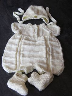 Knit and Crochet Baby Set Overall Hat and by MagicalStrings, $57.00