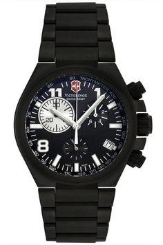 Swiss Army 241255 Men's Swiss Made Black Titanium Chronograph Watch