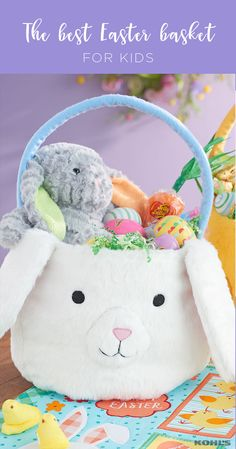Make an Easter basket that's as unique as they are. Don't be afraid to be creative and step outside the box—candy is nice but kids will also love small toys, stuffed animals and games. Featured product includes: bunny and chick Easter baskets; stuffed bunnies; and Easter placemat and table runner. Have a happy Easter with Kohl's.