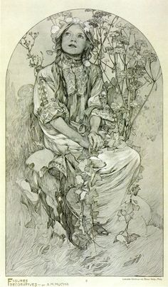 ❤ - Alphonse Mucha | Documents Decoratifs.