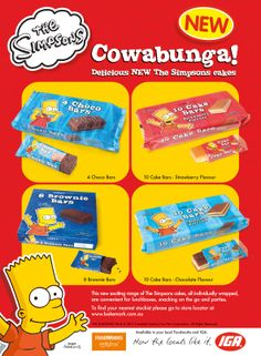 The Simpsons Cake Bars