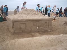You do not have to be a pro to participate at the Cannon Beach Sand Castle Contest. #sandcastle #cannonbeach #beach #contest