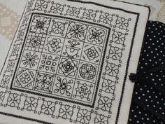 Flores no Jardim - adaptation of - Lee Albrecht: Free blackwork pattern