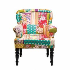 Fauteuil freather patchwork chaises icon design for Meubles kilkenny