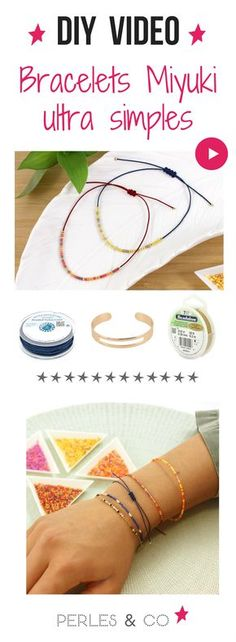 How to make an ultra-simple Miyuki bracelet without weaving? Miyuki bracelets are everywhere! Thanks to the incredibly regular beads Delicas Miyuki the weaving of pearls has a new look! Source by perlesandco Seed Bead Bracelets Tutorials, Beaded Bracelets Tutorial, Beading Tutorials, Dainty Bracelets, Colorful Bracelets, Jewelry Bracelets, Wie Macht Man, Seed Bead Jewelry, Diy Jewelry Making