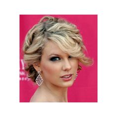 Taylor Swift Hair, Pink, Makeup, Gold found on Polyvore