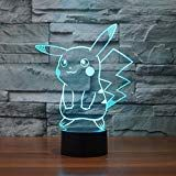 Hot NEW changing Bulbing Light Pikachu GO 2 visual illusion LED lamp creative action figure toy Christmas gift * Pub Date: Feb 9 2017 3d Optical Illusions, Large Lamps, Patio Furniture Sets, Kids Furniture, Led Flood Lights, Desk Lamp, Table Desk, Decorating Tools, Unique Lighting