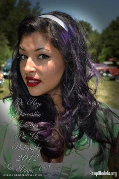 Black Hair with Purple highlights gets a thumbs up!