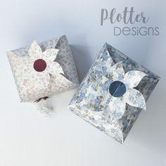 Plotterdatei Top-Box-Blume von PlotterDesigns Cricut, Maker, Box, Design, Co Worker Gifts, Binder, Packaging, Tutorials, Flowers