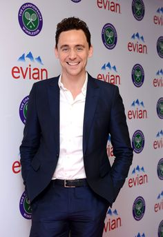 Tom Hiddleston attends the Evian Suite on Day 8 of the Wimbledon Lawn Tennis Championships at the All England Lawn Tennis and Croquet Club at Wimbledon on July 2013 in London, England- Thanks to Torrilla Thomas William Hiddleston, Tom Hiddleston Loki, Beautiful Men, Beautiful People, Thomas Sharpe, My Prince Charming, My Tom, Benedict Cumberbatch, Hot Guys