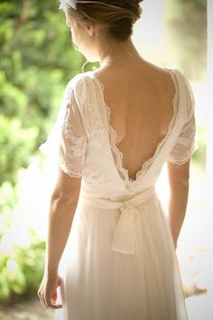 Cute back, don't like that kind of lace though