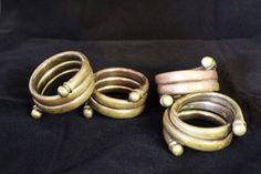 Vintage Brass Napkin Rings Set of 4 Nice Heavy by OrphanedTreasure