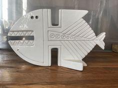 RARE Raymond Aldo Bitossi mid century modernist fish sculpture 3
