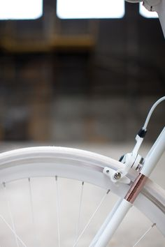 Bicycle, white, copper