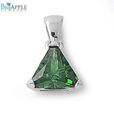 4.74CT Triangle Cut Alexandrite Light Amethyst Purple CZ Solitaire Pendant Charm For Necklace 925 Sterling Silver Classic Mothers Gift
