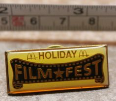 McDonalds Holiday Film Fest Movie Collectible Pinback Pin Button #McDonalds