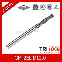 34.99$  Buy here  - ZCC.CT GM-2EL-D12.0 cnc end mill 2 flute flattened Long cutting edge end mill for steel