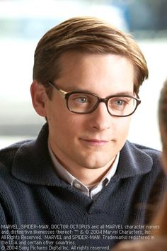 Tobey Maguire as Peter Parker. Cutest, most endearing geek ever!