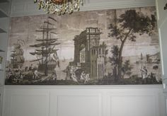 Custom 'Historic' Scenic Mural   Check this job out on my website: www.APaperhangersBlog.com