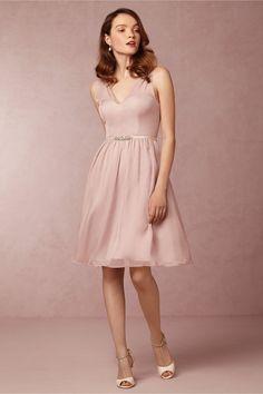 Ainsley Bridesmaids Dress in rose quartz from @BHLDN