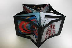 Alfred Hitchcock Carousel/Accordion Book by Laura J. Wilkens, via Behance