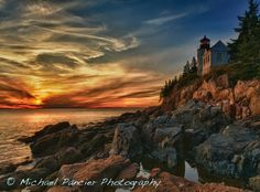 "Bass Harbor, Maine   | ""Bass Harbor Lighthouse Another Take"" by Michael Pancier Photography, via 500px."