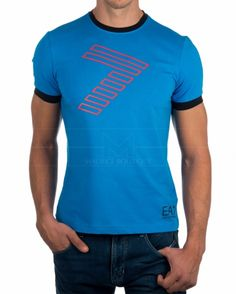 Camiseta hombre EA7 Emporio Armani - Azul Electrico & Negro