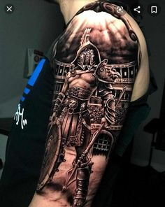 101 Incredible Armor Tattoo Designs You Need to See! Warrior Tattoo Sleeve, Shoulder Armor Tattoo, Warrior Tattoos, Viking Tattoos, Norse Tattoo, Shoulder Tattoos For Men, Best Sleeve Tattoos, Tattoo Sleeve Designs, Tattoo Designs Men