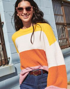 dc2fde0c6a madewell striped gladwell pullover sweater worn with venice flat-frame  sunglasses + emmett wide-