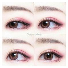 Whenever you do eye makeup, make your eyes look brighter. Your eye make-up need to make your eyes stand out amongst the other functions of your face. Korean Makeup Look, Korean Makeup Tips, Asian Eye Makeup, Korean Makeup Tutorials, Korean Beauty, Korean Makeup Products, Eyeshadow Tutorials, Asian Beauty, Cute Makeup