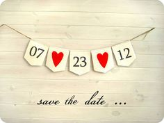 cute save the date idea from BrightBride | Etsy, could be repeated in the decoration at the wedding!