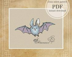 Counted cross stitch patterns Instant download PDF by BergStitch Butterfly Cross Stitch, Cute Cross Stitch, Cross Stitch Bird, Cross Stitch Flowers, Counted Cross Stitch Patterns, Wood Crosses, Dmc Floss, Back Stitch, Fairy Tales