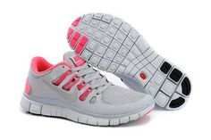 Kaufen Nike Free 5.0 Damen Licht Grau Hell Rosa