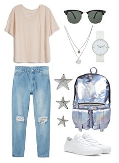 """Silver and stars"" by kate-rattigan ❤ liked on Polyvore"