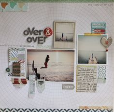 Lisa Truesdell // Memory Keeping Monday : over & over - Two Peas in a Bucket // work a grid for a quick and easy design