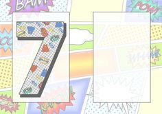 7 Today Comic Book Birthday A5 Insert on Craftsuprint - Add To Basket!