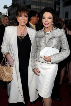 """Joan Collins and Jackie Collins Photos: Premiere Of ReelzChannel's """"The Kennedys"""" - Red Carpet"""