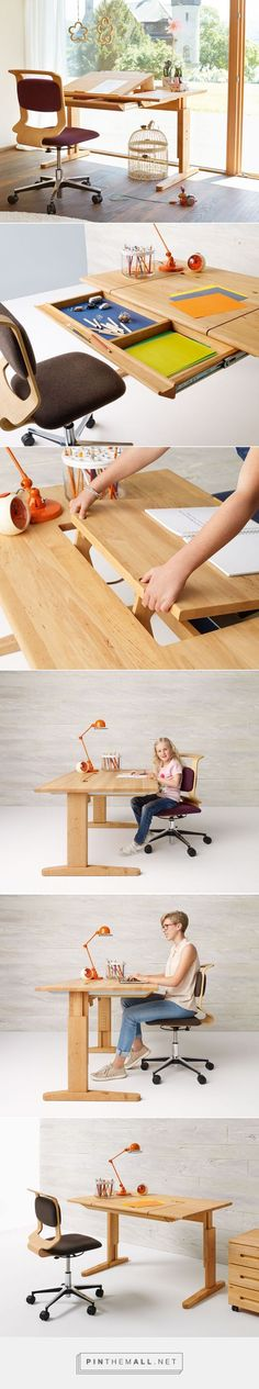 Height Adjustable Kids Desk from Team7 - created via http://pinthemall.net